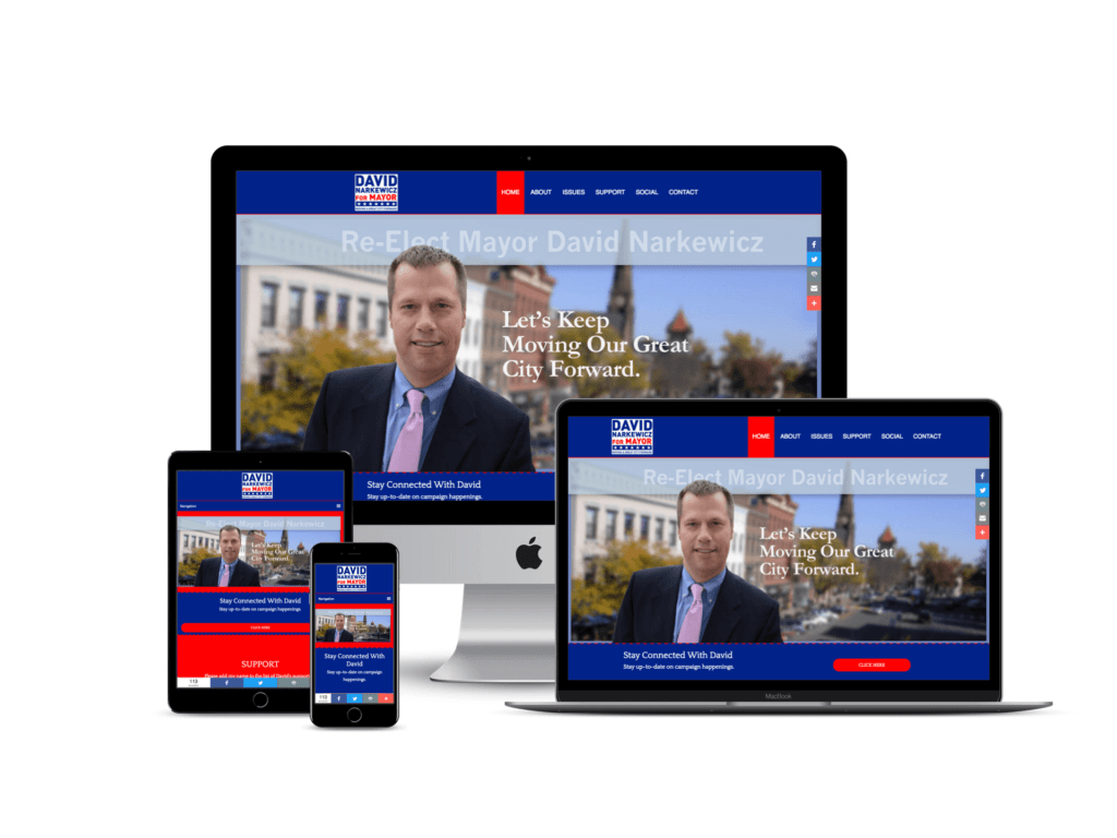 David Narkewicz Political Campaign Website Design
